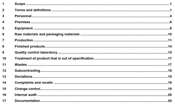 Yêu cầu tiêu chuẩn ISO 22716